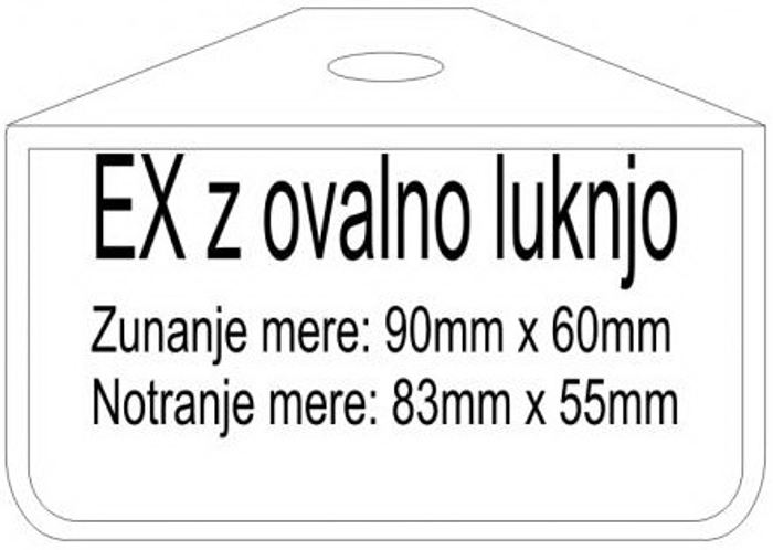 PVC badge ETUI EX-OVL 60x90
